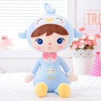 Peluş Oyuncaklar Dolması Hayvanlar Bebekler Çocuklar Için Sevimli Kepple Oyuncak Doğum Günü Noel Hediyeleri Çocuklar Pembe Tavşan Penguen Bebek GloLeya Y200111