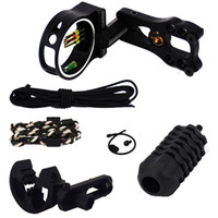 1 Set Jaktbågskytteuppgradering Combo Peer Sight Kits Arrow Rest Stabilizer Bow Sling Compound Bow Tillbehör