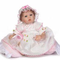 40cm Silikon Baby Reborn Puppen lebensechte Puppe Reborn Babys Spielzeug für Mädchen Prinzessin Kleid Geschenk für Kinder