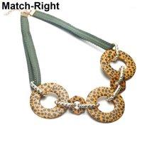 Collares colgantes Collar de leopardo para mujeres Charm Declaración de cinta Colgantes Joyas de mujer Regalos Regalos Collares Mujer Collier SP5691