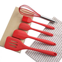 Cookware Sets Silicone Kitchenware Non-stick Cookware Silicone Cooking Tool Sets Egg Beater Spatula Oil Brush Kitchen Tools High Quality M2