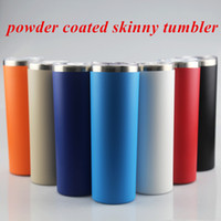 20oz Powder Coated Skinny Tumbler Stainless Steel Tumbler sl...