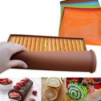 Non Pick Silicone Roll Mat Cake Pad Многофункциональная Непричдотворная Выпечка Печи Лоток Лоток Сковорода Кухонные Выпечки Выпечки Инструменты с быстрой отгрузкой