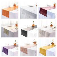 스팽글 테이블 플래그 babysbreath 자수 테이블 러너 지중해 식탁보 장식 파티 용품 뜨거운 판매 10 5xn K2