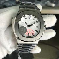 U1 Fabrik Herrenuhr Bewegung graviert Saphirglas weißes Zifferblatt Automatische mechanische Edelstahl transparente Rückseite Männer Uhren