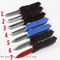 Outdoor A9 Automatic Knife BM MT Micro Pocket Double Action Folding Tactical Knife Auto Knife Cold Bench Steel Knives C07 UT85 QYNF YdJFi