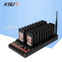 KSUN T-Q20 Restaurant Pager نظام الاتصال اللاسلكي 20 جهاز استقبال النداء ل عيادة مقهى المقهى النادل بنجر قائمة انتظار System1