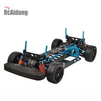 1/10 RC Aluminiumlegierung Kohlenstoffwellenantrieb Touring Auto-Rahmen-Kit für Tamiya TT01 TT01E Auto 201104