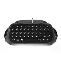 Teclado Mouse Combos Mini Gaming Wireless Keypad para PS4 PlayStation 4 Controlador Acessório Bluetooth Black 20211