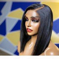 13x6 Tiefsteil Bob Lace Frontperücken mit Babyhaar 9A Prepucked Brasilianische Jungfrau Kurze Human-Haar-Perücken für schwarze Frauen