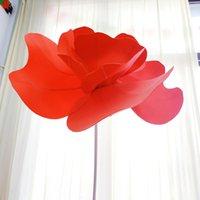 الزهور الزهور أكاليل كبيرة 90 سنتيمتر رغوة الخشخاش زهرة رئيس الجدار شنق الاصطناعي pe عرض الزفاف الرئيسية خلفية احتفالي مرحلة ديكور