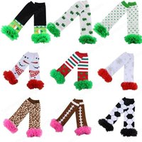 14 Styles Bébé Christmas Baby Babe à volants Bas Bas Stripe genou Chaussettes Enfants Girls Enfants Leggings