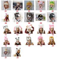Caráter bonito Animal Plush Inverno Hat Fun Ski Cap orelha longa Straps Hoodie Unisex Inverno KKA8288 chapéu