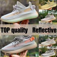 Neue 2020 Schwarze statische Laufschuhe Frauen Herren 3M Reflektierende Synth Antlamal GID Clay Zebra Beluga True Form Sneakers mit Box