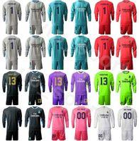 Portero de fútbol Real Madrid de manga larga Iker Casillas Jersey Conjunto de portero GK Thibaut Courtois Kits Kits de Camiseta de Fútbol Paco Paco
