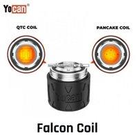 Auténtico Yocan Falcon Reemplazo Cabezal de bobina QTC QTC Quatz TRIPLE COIL PANCKAKE BOBICA ATOMIQUE CORE PARA EL KIT DE DISPOSITIVO DE DAB CONCENTRATE DE COMIDA
