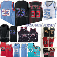 NCAA Scottie 33 Pippen 23 Jersey Dennis 91 Rodman Basketball Jerseys 2020 대학 대학 복고풍 메쉬 남성 저지