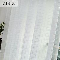 Cortinas cortinas zisiz europeas blancas cortinas de tul para la ventana de dormitorio sala de estar de cocina balcón transparente sheer