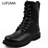 Lufuma Askeri Botlar Erkekler Kış Ayakkabı Sıcak Erkekler Deri Çizmeler Ayakkabı Kovboy Taktik Çizmeler Erkekler Rahat Ayakkabılar Boyutu 38-48 201124