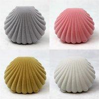 Shell forma imballaggio box di gioielli ornamenti ornamenti regalo anello flanellante anello originalità contenitori di stoccaggio spedizione gratuita 2 5NH F2