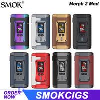 Smok Morph 2 Mod 230 W Elektronik Sigara Kutusu Mod Vape TC Buharlaştırıcı Destek 510 Konu TFV18 Tank Atomizer otantik