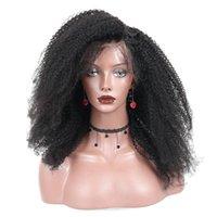 250 Densidade da Mongólia afro Kinky encaracolado dianteira do laço do cabelo humano perucas 4B 4C Cabelo Humano 13x4 laço frontal Bob corte Encerramento youmay Remy