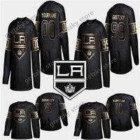 Goldene Edition Los Angeles Könige Jersey 23 Dustin Brown 8 Drew Doughty 99 Wayne Gretzky Anpassen einer beliebigen Namen Hockey-Trikots