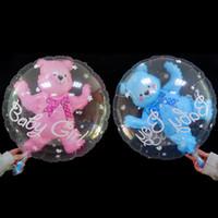 Toptan 24 Inç Karikatür Teddy Bear Balonlar 50 adet / grup Balon Doğum Günü Partisi Süslemeleri içinde Alüminyum Folyo Balon