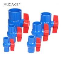 Équipements d'arrosage Muciakie 20/25/32/40/50 / 63mm Vanne à boule en PVC en ligne Compact T-poignée T-poignée T-désactivation Connecteur de tuyau de plomberie IRRIGATI