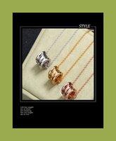 بيع 14k الذهب السيراميك الربيع قلادة، الذكور والإناث الأزواج نجمة الترقوة سلسلة قلادة التيتانيوم الصلب بالجملة