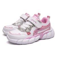 Ulknn Kinder wasserdichte Lederschuhe für Mädchen 28-37 Kinder Casual Schuhe Große Junge Laufschuhe Rosa Grün Weiß Sneakers 201201