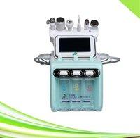 Yeni 6 in 1 Spa Mikro Dermabrazyon Siyah Nokta Kaldırma Ultrasonik Cilt Scrubber Hidroderermabrazyon Yüz Makinası