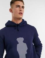 Homens e estilo de rua estilo pólo urso moda azul hoody inverno urso de algodão impressão hoodie hip hop dydhgmc219-wy