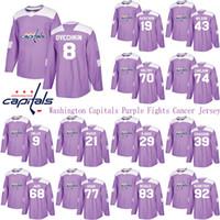 Washington Capitals Mor Kavgalar Kanser Jersey 8 Alex Ovechkin 19 Nicklas Backstroom 43 Wilson 77 T.J. OSHIE 92 KUZNETSOV Hokey Formaları