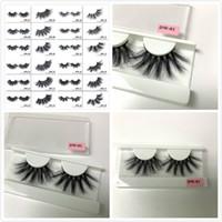 26 estilos 25 mm 3D visón de pestañas ojo maquillaje visón falso pestañas suaves natural gruesas pestañas falsas pestañas de ojo extensión