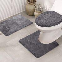 3pcs 욕실 목욕 매트 세트 화장실 깔개 비 슬립 피쉬 스케일 목욕 매트 욕실 주방 카펫 doormats 장식 깔개 바닥 매트 LJ201223