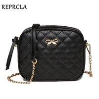 HBP RepClla Fashion Nouveau Bowknot Femmes Messenger Sac Plaid PU Cuir Sac