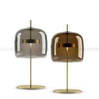 Nordic Modern LED Schreibtischlampen Einfache Bibliothek Wohnzimmer Schlafzimmer Nachttisch Beleuchtung Kreative Designer Gla Tischlampen Dekor