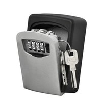 Key Storage Lock Box Wall Mount Holder 4 Digit Combination Safe Outdoor Security QJY99 Y1203