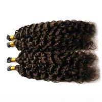 I Tip Curly Pré-lié des cheveux humains Peruvian EXTENTION DE CHEVEUX 10-26INCH Couleur naturelle 100% Remy Cheveux Livraison gratuite