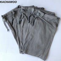 Kachawoo 100pcs Sac gris pour lunettes de soleil Soft Pouch Stockage pour lunettes Lecture de lunettes Sac Personnaliser Logo en gros T200505