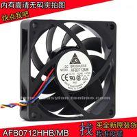 Вентиляторы Охлаждения Оригинальные Delta AFB0712HHB / AFB0712MB AMD CPU Радиатор 7 см 4-контактный PWM Ball Fan 70x70x15mm Охлаждение вентилятора1