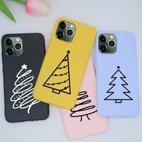 Renkli Noel ağacı Kılıf iPhone 6 6S 7 Artı iPhoneX için 8 x XR XS MAX 11 PRO Telefon TPU Silikon Kapaklar