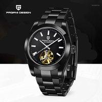 Reloj automático de diseño de Pagani Hombres Hombres luminosos ocasionales Relojes mecánicos para hombres deportes Top Muñeca Muñeca Reloj Reloj Hombre1