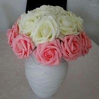 أزياء 50-100 قطع جميلة الساحرة الزهور الاصطناعي pe رغوة روز الزهور العروس باقة الزفاف ديكور المنزل سكرابوكينغ diy supp1