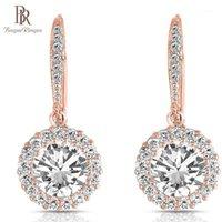 Colgante arcilla bague ring silver 925 pendientes 3 color diamante para mujeres caídas redondo colgante fiesta regalo1