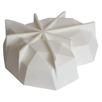 초콜릿 다이아몬드 케이크에 대한 브레이크 가능한 심장 실리콘 금형 곰팡이가 곰팡이가있는 곰팡이 곰팡이 곰팡이가 굽는 HHE4128