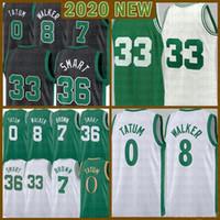 2021 Mens Jayson 0 Tatum Basketball Jersey Kemba 8 Walker Mens Larry 33 Juventude Kids Jaylen 7 Brown Malha Retro Marcus 36 Inteligente Verde