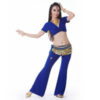 Belly Dance Wear Set Belly Dance Costume Top Pant para mujeres Trajes Sexy Practica Disfraz Set Trajes
