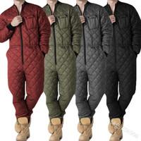 Monos para hombres Muchistas de manga larga de una pieza Invierno Ropa cálida Nuevo Zipper Playsuits Hombres Homewear Invierno Overlismo Mono